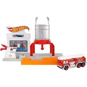 Hot Wheels - Rozkładane zestawy Pożar na stacji DWL01