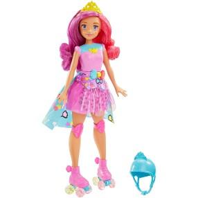 Barbie w Świecie Gier - Lalka Księżniczka z grą pamięciową DTW00
