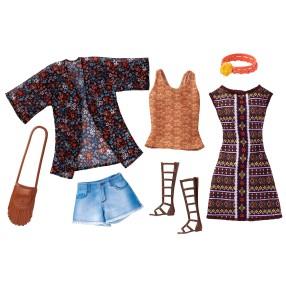 Barbie Fashionistas - Modne ubranka z akcesoriami 2-pak BOHO DWG40