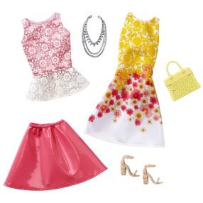 Barbie Fashionistas - Modne ubranka z akcesoriami 2-pak Day Date DWG44