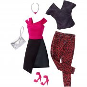 Barbie Fashionistas - Modne ubranka z akcesoriami 2-pak Edgy DWG45