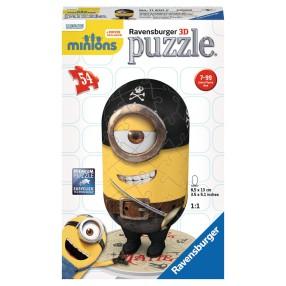Ravensburger - Puzzle 3D Minionki Stuart pirat 116508