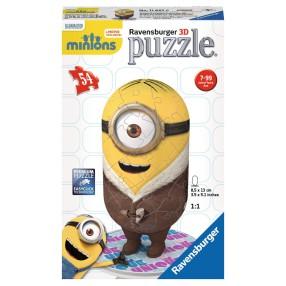 Ravensburger - Puzzle 3D Minionki Stuart w kożuszku 116676