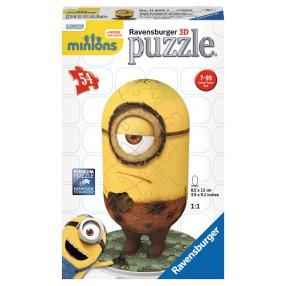 Ravensburger - Puzzle 3D Minionki Stuart jaskiniowiec 116669