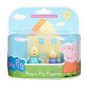TM Toys Świnka Peppa - Figurki Przyjaciele dwupak Rebecca i Richard 05319 B