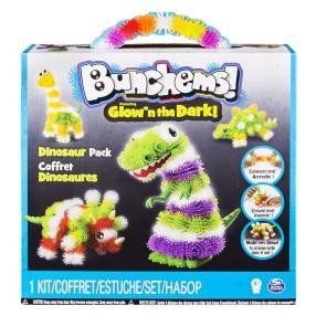 Bunchems kolorowe rzepy - Świecące w ciemności Dino 20073842