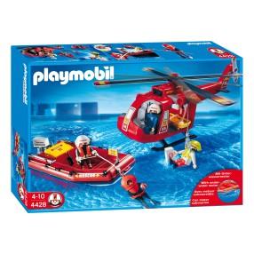 Playmobil - Helikopter ratowniczy z pontonem 4428