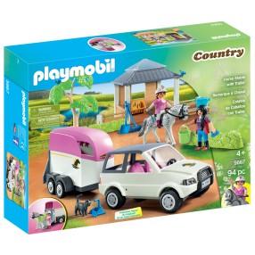 Playmobil - Stajnia z przewozem dla konia 5667