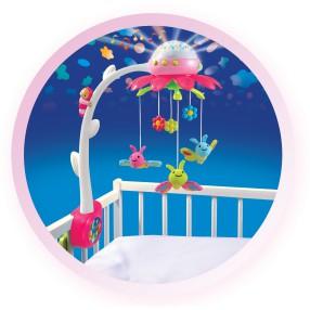 Smoby Cotoons - Karuzela Wiosenny ogród z dźwiękiem i projektorem Różowa 211374 B