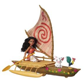 Hasbro Disney Vaiana - Świecący gwiezdny kajak Lalka Vaiana i przyjaciele C0157
