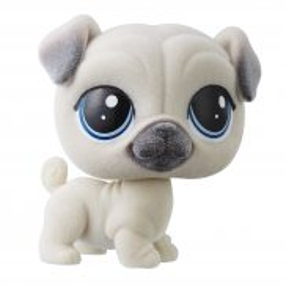 Littlest Pet Shop - Figurka podstawowa Piesek Pugson Fuzzypaws B9360