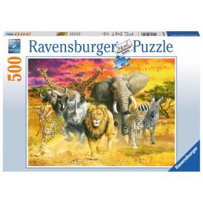 Ravensburger - Puzzle Zwierzęta afrykańskie 500 elem. 147243