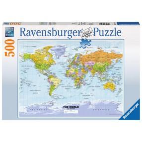 Ravensburger - Puzzle Polityczna mapa świata 500 elem. 147557
