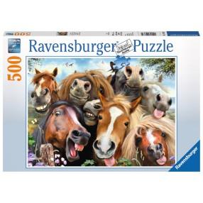 Ravensburger - Puzzle Końskie selfie 500 elem. 147632