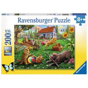 Ravensburger - Puzzle XXL Zabawa w ogrodzie 200 elem. 128280