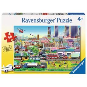 Ravensburger - Puzzle Zapracowana okolica 60 elem. 096305