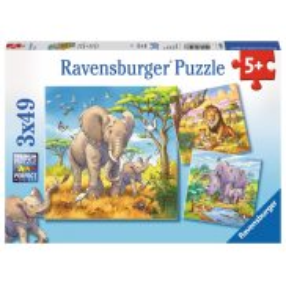 Ravensburger - Puzzle Dzikie zwierzeta 3 x 49 elem. 080038