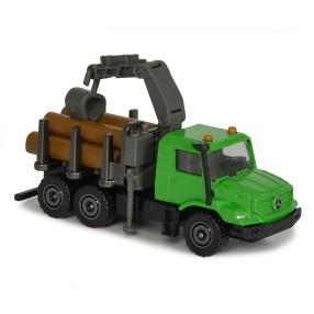Majorette - Maszyny rolnicze Ciężarówka z dźwigiem Mercedes-Benz Zetros 2057400