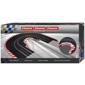 Carrera Digital 124/132 - Zakręt z szykaną oraz bandy z oponami 20613