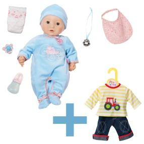 Baby Annabell - Lalka funkcyjna Chłopiec Braciszek Model 2016 794654