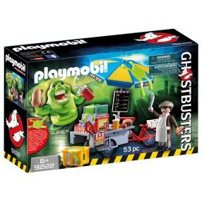 Playmobil - Pogromcy Duchów - Slimer przy budce z hotdogami 9222