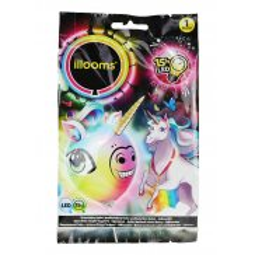 Illooms - Podświetlany balon LED Jednorożec zmieniający kolor 80054