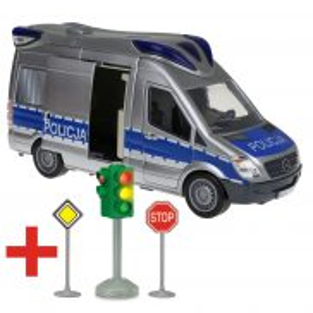 Dickie SOS - Samochód Radiowóz policyjny z dźwiękiem i światłem 3716002 A