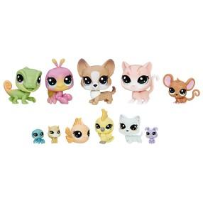 Littlest Pet Shop - Zestaw 11 zwierzaków domowych C1674