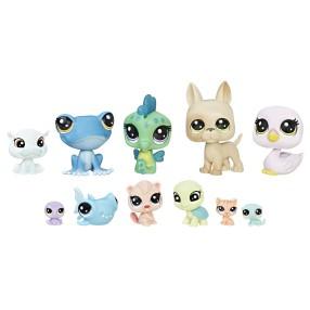 Littlest Pet Shop - Zestaw 11 zwierzaków Wesoła załoga C1673