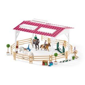 Schleich - Szkółka jeździecka z końmi i jeźdźcami 42389