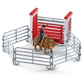 Schleich - Kowboy ujeżdżający byka 41419