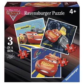 Ravensburger - Puzzle Auta 3 Porywający wyścig 3w1 069255