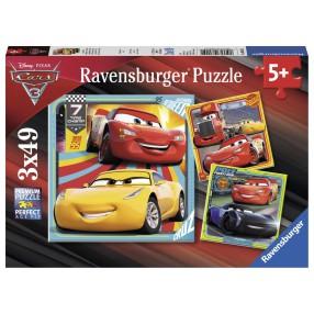 Ravensburger - Puzzle Auta 3 Bohaterowie 3x49 elem. 080151