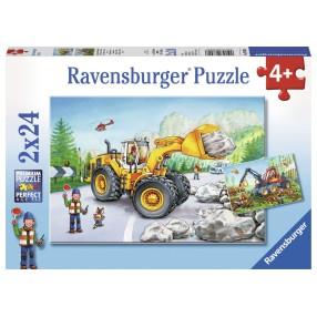 Ravensburger - Puzzle Maszyny w pracy 2x24 elem. 078028
