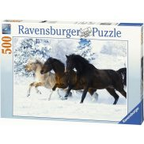 Ravensburger - Puzzle Konie galopujące w śniegu 500 elem. 141401