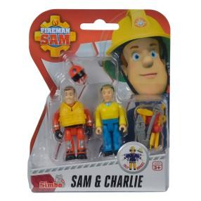 Simba - Strażak Sam 2 Figurki z akcesoriami Sam i Charlie 9257651 A