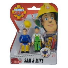 Simba - Strażak Sam 2 Figurki z akcesoriami Sam i Mike 9257651 C