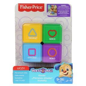 """Fisher-Price Ucz się i śmiej - Klocki """"Pierwsze słówka"""" - Kształty FJP05"""