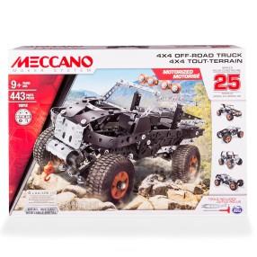 Meccano Klocki konstrukcyjne - Terenówka górska Pojazd ciężarowy 4x4 25 w 1 16212