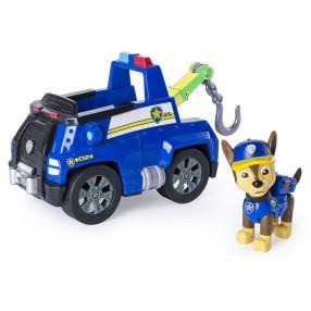 Psi Patrol - Pojazd z figurką Chase i holownik laweta 20084879