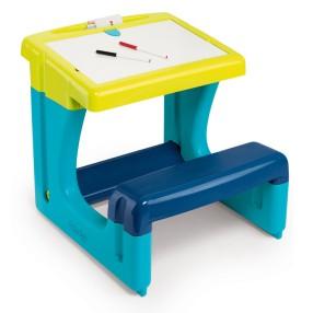 Smoby - Stolik z tablicą dwustronną Niebieski 420100 A