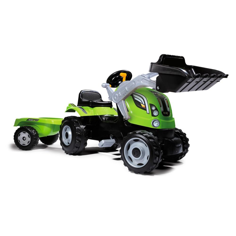 Smoby - Traktor Farmer Max z łyżką i przyczepą 710109