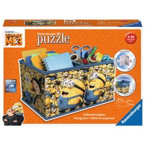 Ravensburger - Puzzle 3D Kuferek Minionki 216 elem. 112609