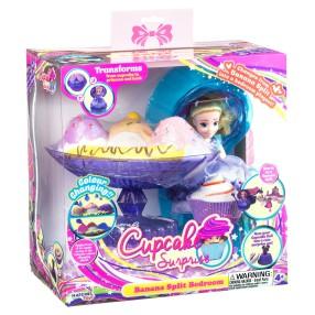 TM Toys - Cupcake Surprise Zestaw deser bananowy - sypialnia 2w1 Fioletowy 1138