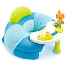Smoby Cotoons - Siedzonko Fotelik zabaw z interaktywnym stoliczkiem Niebieskie 110209