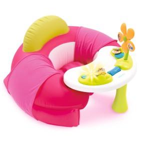 Smoby Cotoons - Siedzonko Fotelik zabaw z interaktywnym stoliczkiem Różowe 110209