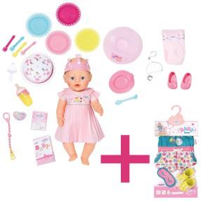 BABY born - Lalka interaktywna Urodzinowa 43 cm 824054