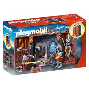"""Playmobil - Play Box """"Kuźnia rycerska"""" 5637"""
