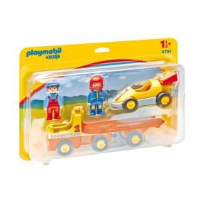 Playmobil - Wyścigówka z lawetą 6761