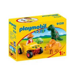 Playmobil - Badacz dinozaurów z quadem 9120